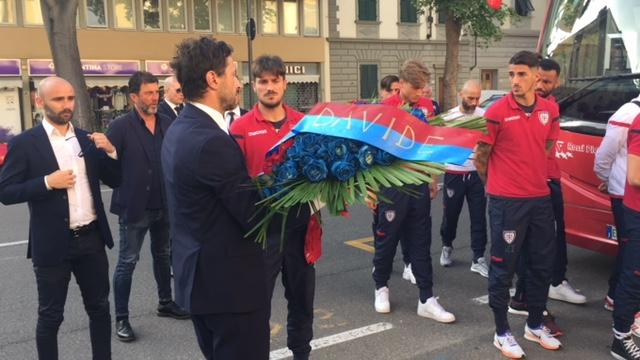 Il Cagliari al Franchi per Astori