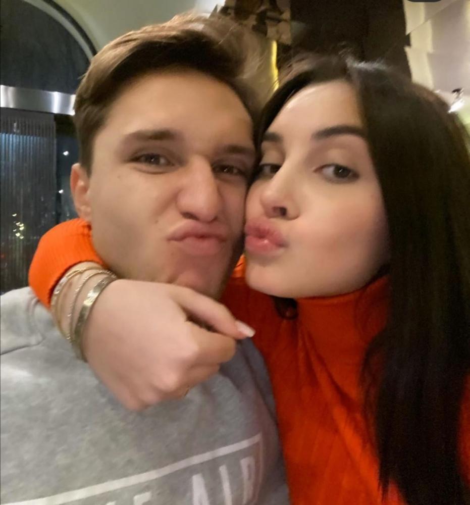 Federico Chiesa e Benedetta da Instagram